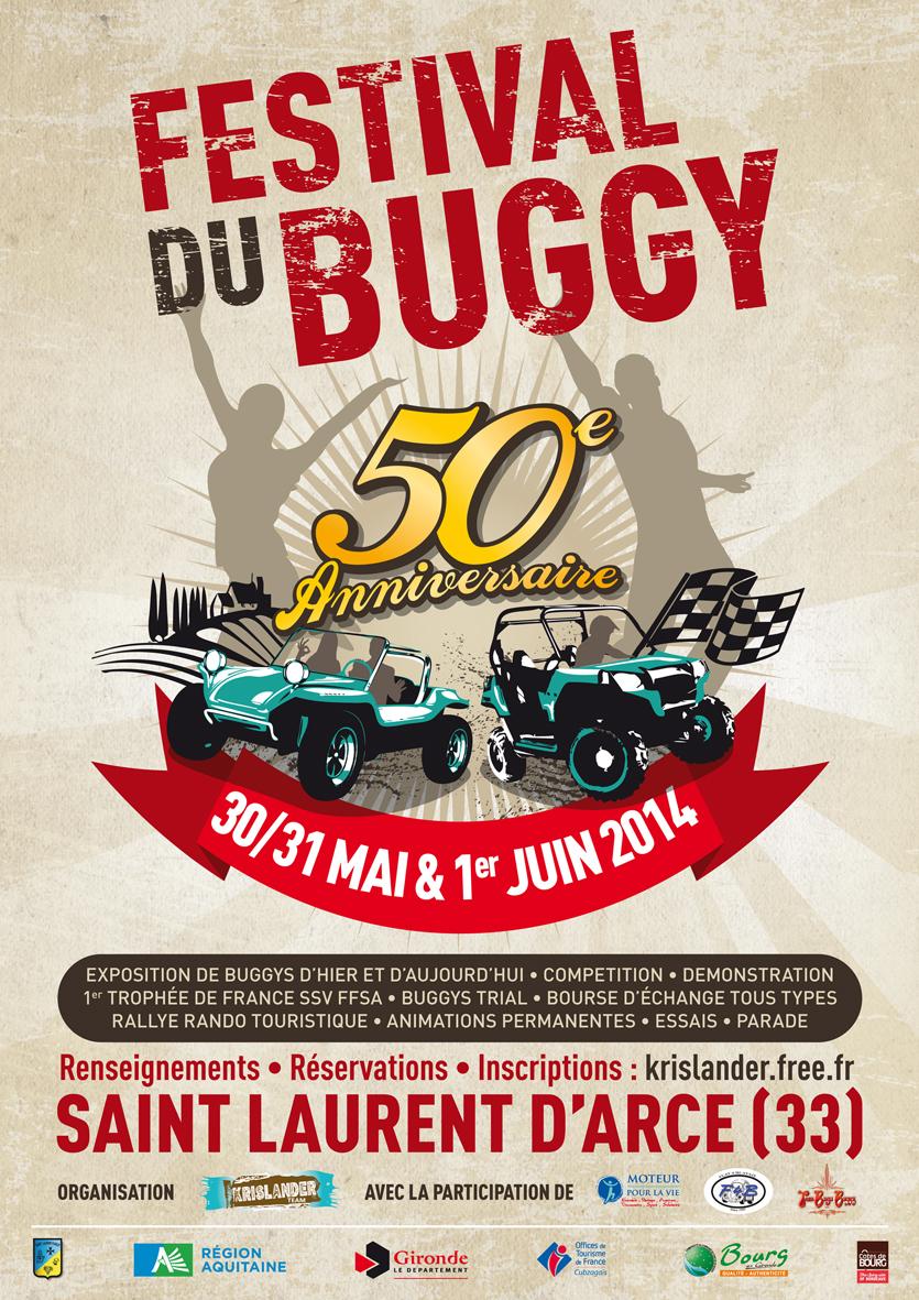 Volksbourg 30/31 Mai & 1 Juin  33 Gironde Affiche%2050%20ans%20du%20Buggy
